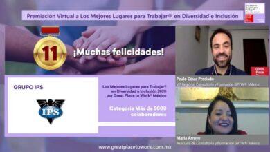 Photo of Grupo IPS recibe reconocimiento de Diversidad e Inclusión por parte de GPTW México.