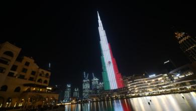Photo of El Burj Khalifa de Dubai se iluminó tricolor con motivo de la Independencia de México