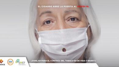 """Photo of Presentan la campaña """"El cigarro abre la puerta al COVID-19"""""""